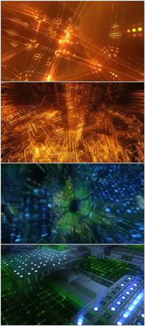 3D科技空间新闻栏目动态背景视频