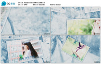 AE CS6冬日雪花飘舞写真相册视频