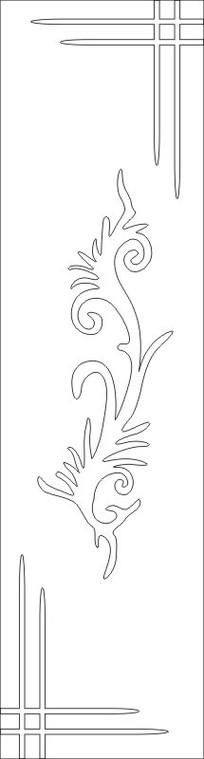 抽象凤凰花雕刻图案