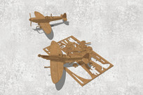 飞机木质拼图