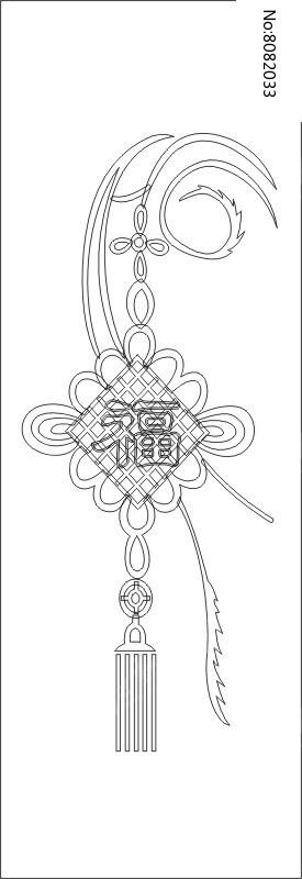 福中国结雕刻图案图片