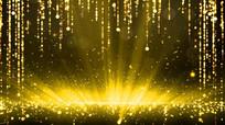 金色粒子光芒背景视频 mov
