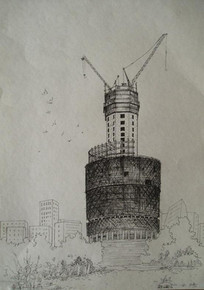 竣工中的大楼