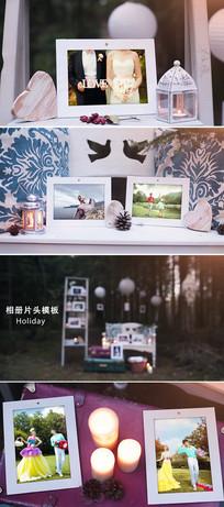 浪漫家庭婚礼毕业季照片记忆相册AE模板