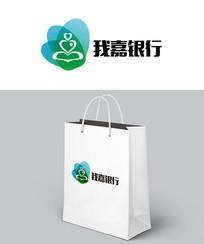 时尚自然银行logo