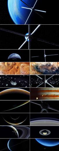 太空天体宇宙星空探测器三维视频