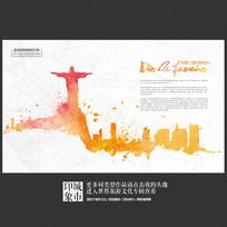 印象巴西里约热内卢城市旅游宣传海报