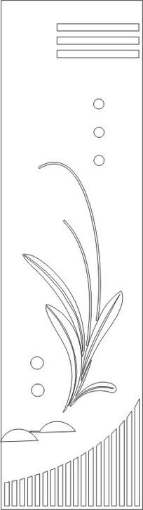 圆圈兰花门图案雕刻图案