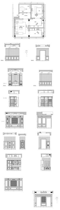 别墅整木墙板CAD图