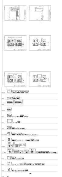 家居整木墙板设计CAD图