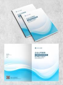 蓝色简约企业封面