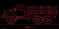 苏联zil 131侧线图