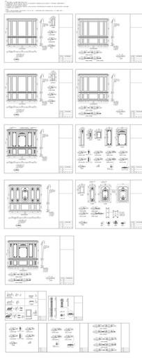 整木墙板CAD图纸