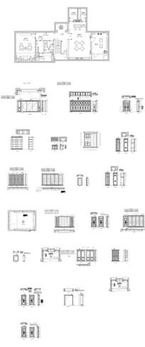 整木墙板设计CAD图纸