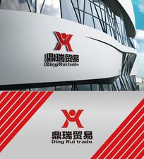 红色大气贸易logo