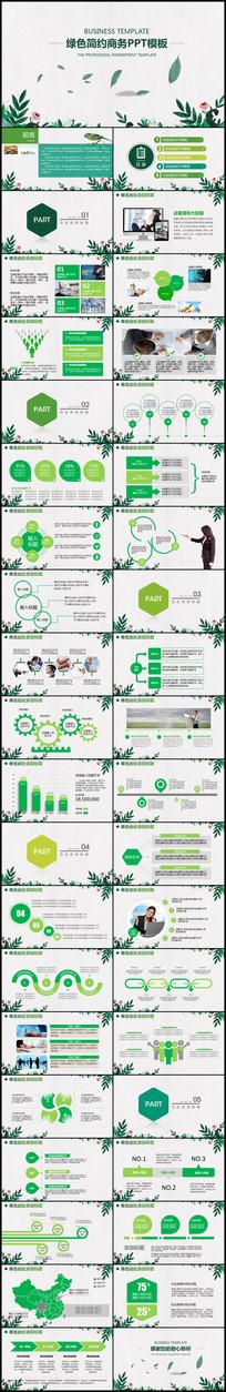 绿色清新工作报告述职报告PPT
