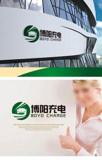 绿色圆形充电logo