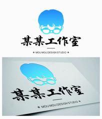 人物形象创意标志logo