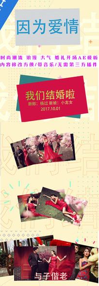 时尚潮流婚礼相册AE模板