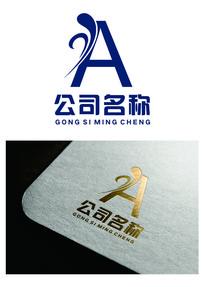 纹样字母创意logo