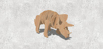 组装犀牛模型