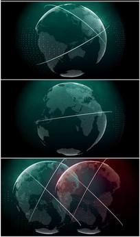 点线科技地球旋转分离视频