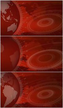 地球旋转新闻演播室背景视频