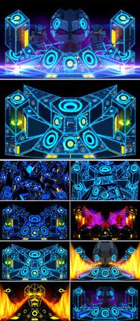 动感激光LED舞台背景酒吧DJ视频