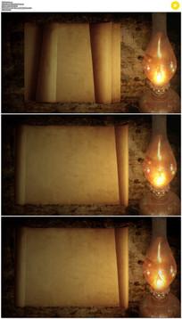 复古卷轴打开背景视频素材
