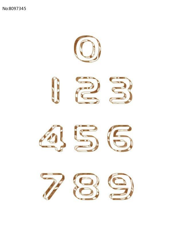 花纹个性数字设计图片