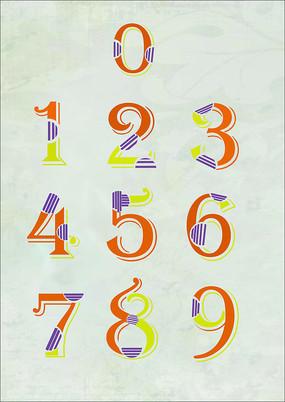 简约数字创意logo标志