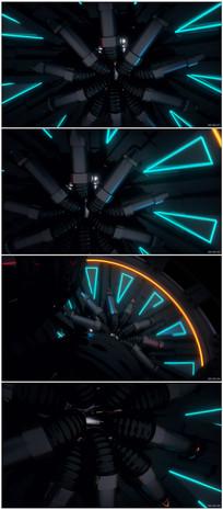 科幻万花筒视觉变幻LED背景