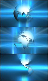 蓝色科技地球旋转视频