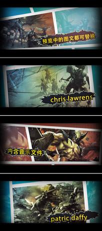 漫画风格动作电影游戏宣传介绍ae模板