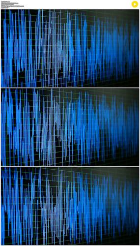 跳动的音频噪声波形实拍视频素材