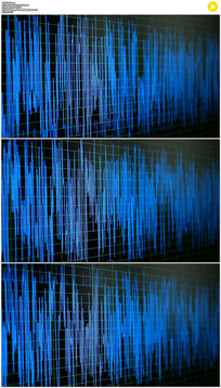 跳动的音频噪声波形实拍视频素材 mov