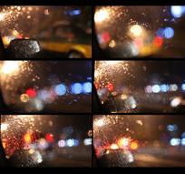 夜晚车窗外面的灯光视频