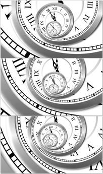 钟表无限旋转时间流转视频 mov