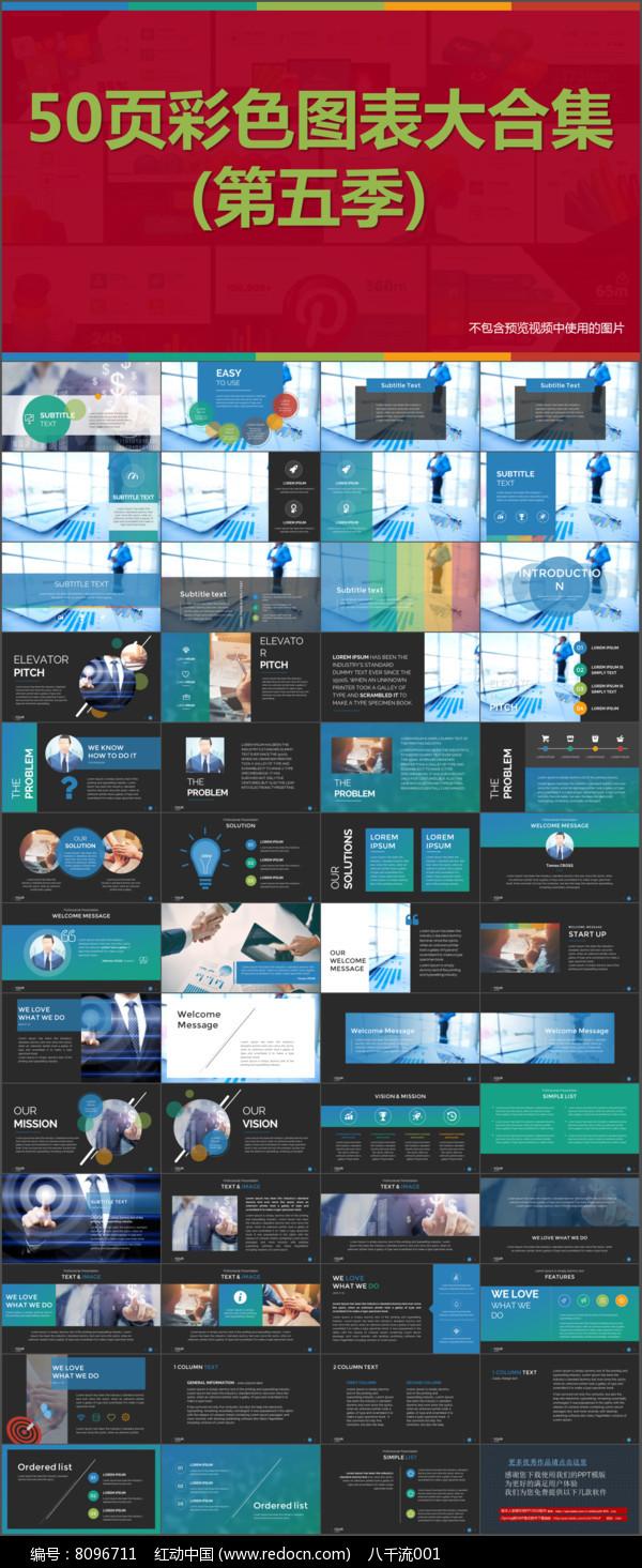 图片展示文本框数据图表PPT模版图片