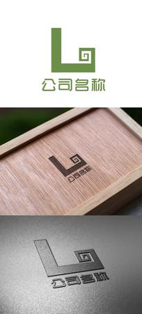 字母L变形logo