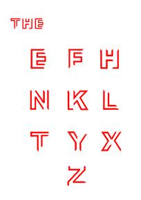 字母字体设计