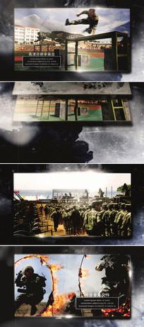 ae震撼大气中国军队武警宣传片片头模板