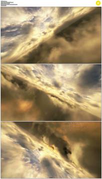 黄色云层旋转穿梭动态视频素材