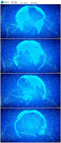 无缝循环蓝色科技地球