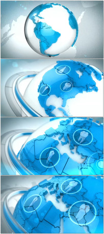 3D地球连线视频