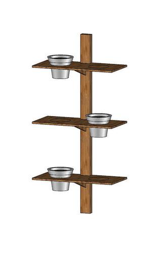 SU木质垂直盆栽架