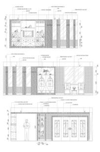 餐厅立面CAD图