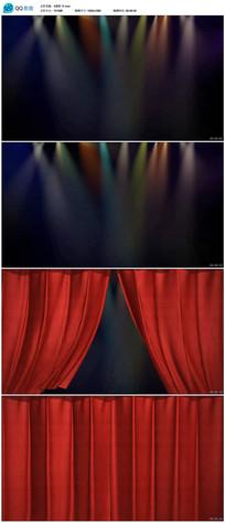带透明通道舞台表演幕布背景视频