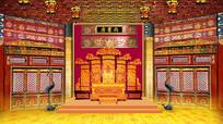 高清LED大屏幕舞台背景皇宫尚书房设计图片 PSD