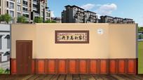 高清LED大屏幕舞台背景家庭中国风客厅设计图片 PSD